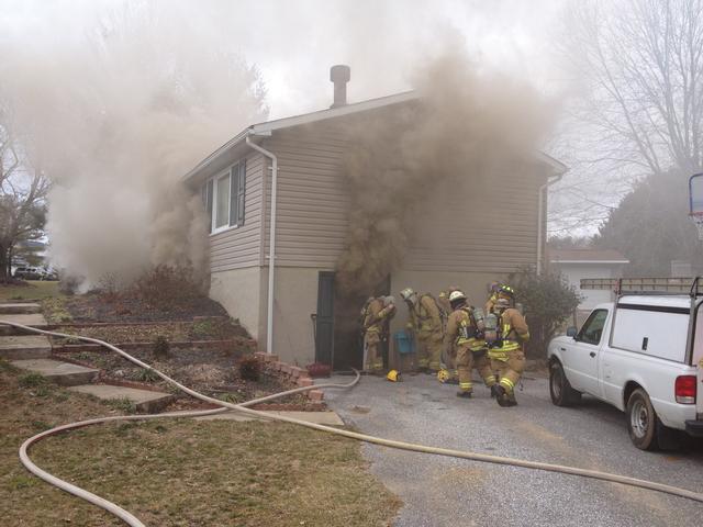 BASEMENT FIRE IN CARROLL COUNTY - Upperco Volunteer Fire Company