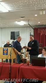 Scott Boose receiving the Fire Officer award