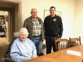 President Scott Boose at settlement with Mr. & Mrs. Lippy.